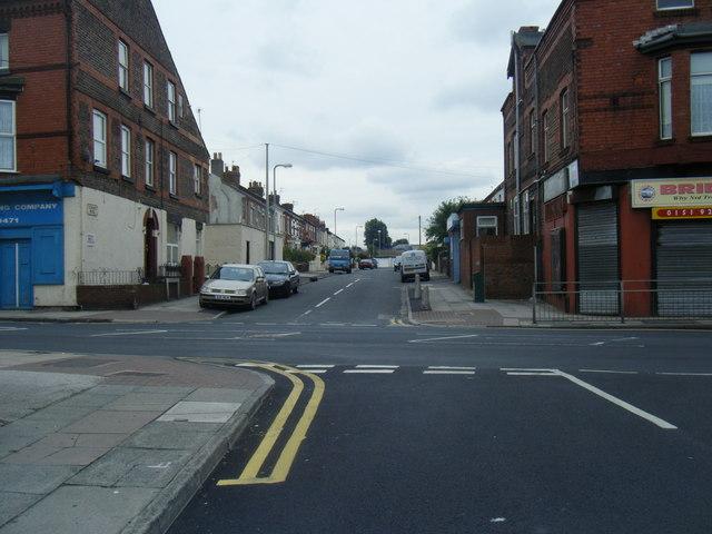 Cunard Road/Linacre Road junction