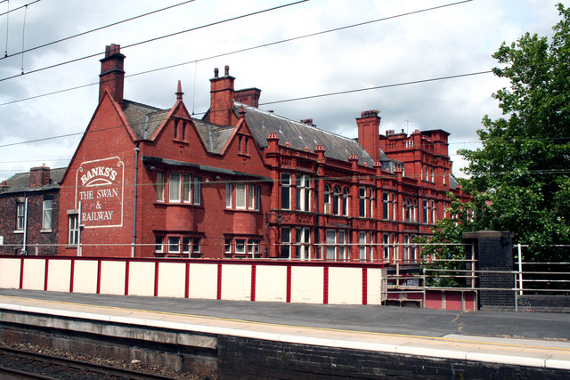 Wigan:  The 'Swan and Railway'