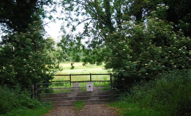 Gate by the lane to Keswick Mill