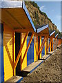 SZ5983 : Beach huts near Sandown : Week 28