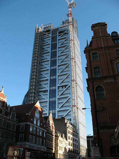 The Heron Tower, nearly complete