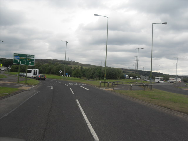 hattersley roundabout  u00a9 anthony parkes    geograph britain