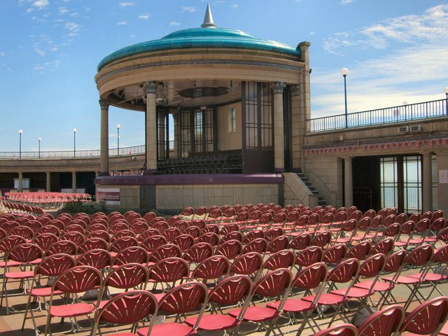 Seating by Eastbourne Bandstand
