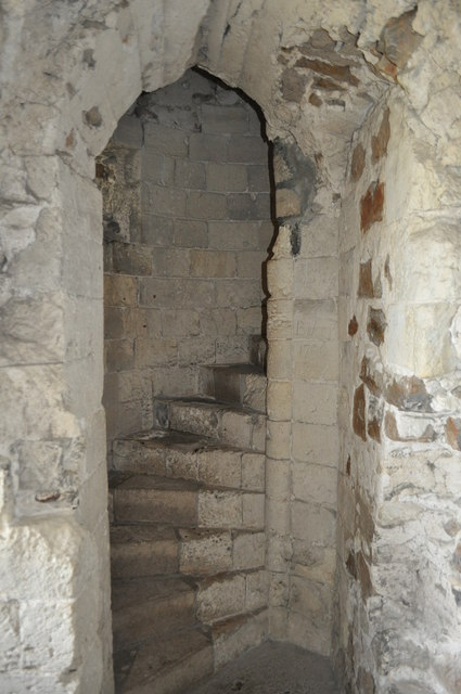 Orford Castle - Stairs to the... © Ashley Dace :: Geograph ...