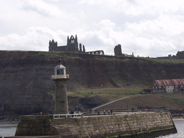 Whitby Abbey from the West pier