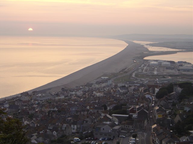 Chesil Beach from Portland Bill