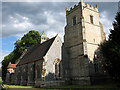 TL8392 : St Mary's church in West Tofts by Evelyn Simak