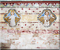 TL8392 : St Mary's church in West Tofts - chancel wall by Evelyn Simak