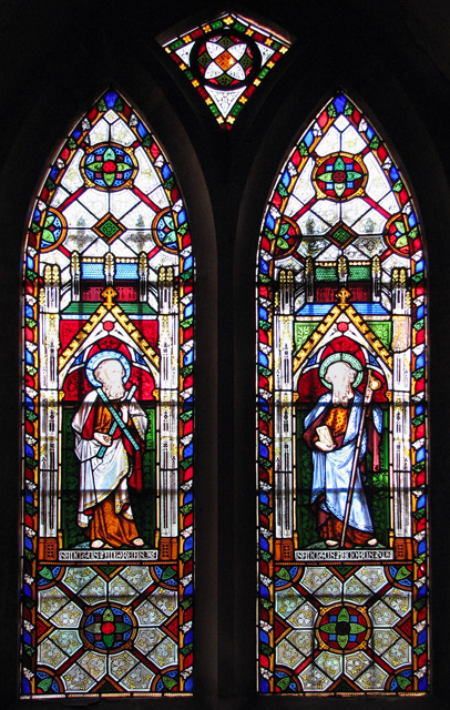St Mary's church in West Tofts - stained glass