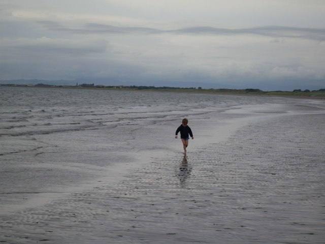 Enjoying a cold and lonely beach day - Prestwick