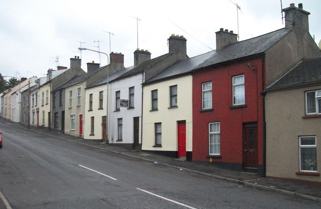 Terraced houses in Talbot Street, Newry
