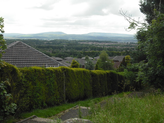 View over rooftops: Livingston