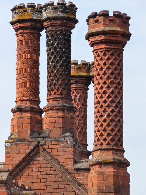 Chimney stacks in Holkham village
