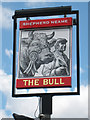 TQ4121 : The Bull sign by Oast House Archive