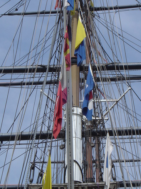 Rigging on the Cutty Sark