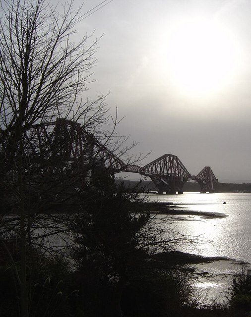 The Forth Bridge from the north bank
