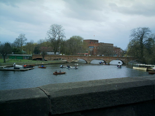 Stratford Theatre from the road bridge