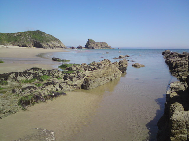 Monkstone beach on a hot day