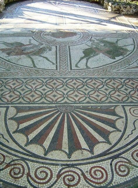 Littlecote Roman Villa - Orpheus Mosaic