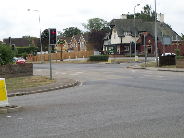 Junction of A5 and A4012 at Hockliffe