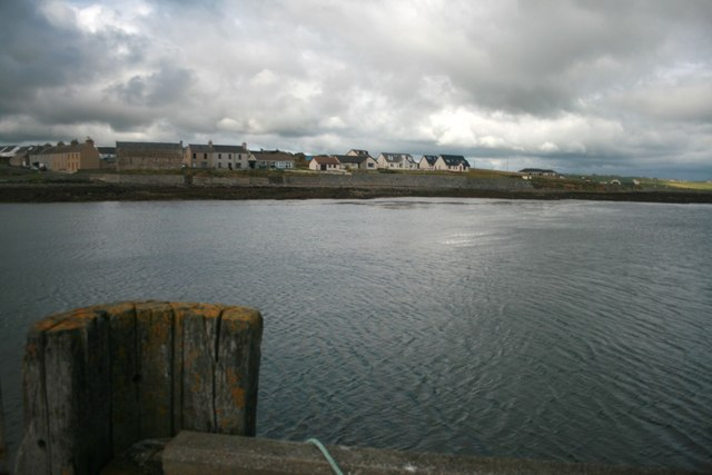 St Mary's Village, Orkney, from the pier.