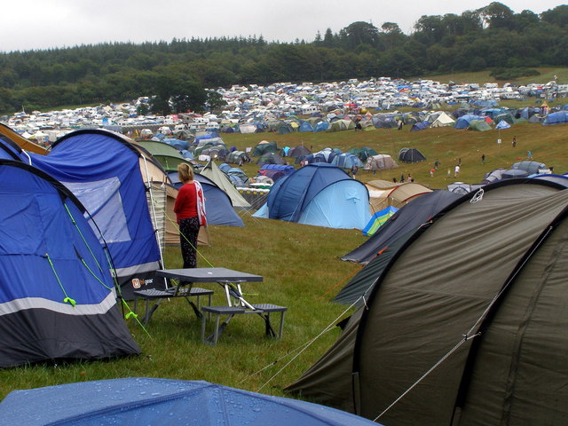 Camping at Camp Bestival 2010, Lulworth Park