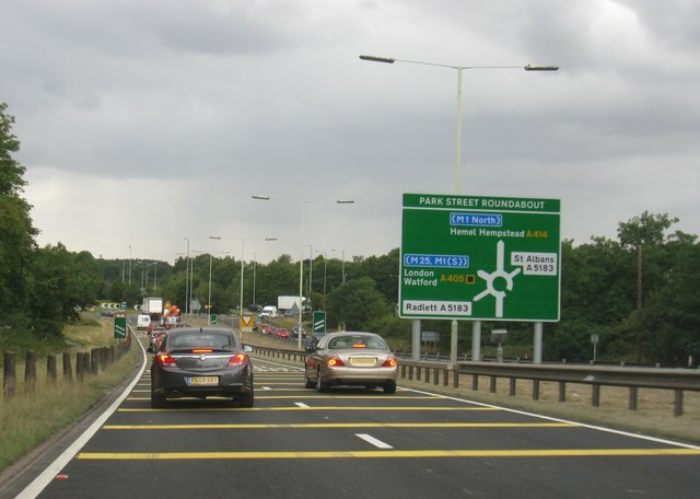 Approaching Park Street Roundabout Logomachy Geograph