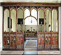 TG3421 : St Michael's church in Barton Turf - the rood screen by Evelyn Simak