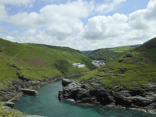Boscastle Harbour from Penally Point