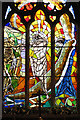 TG2418 : St Swithin's church in Frettenham - east window : Week 31