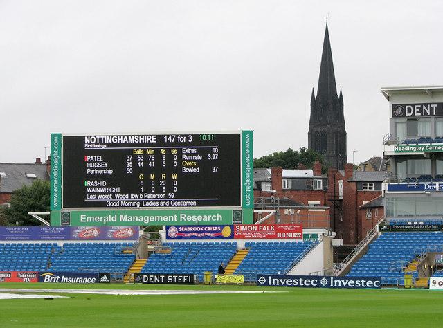 Headingley Cricket Ground The 169 John Sutton