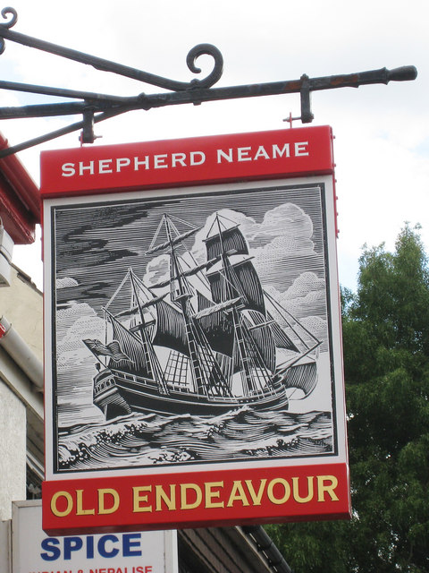 Old Endeavour sign