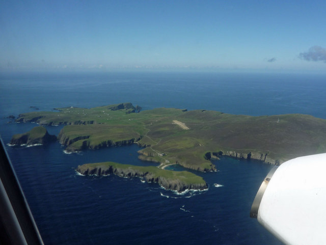 Fair Isle from the Loganair Kirkwall to... © Julian Paren cc-by-sa ...