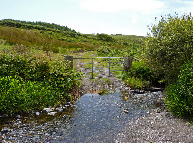 Track through Cloghane River