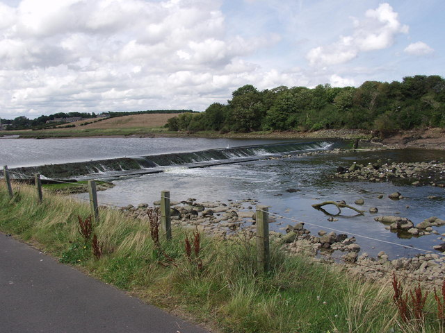 The weir on the Coquet