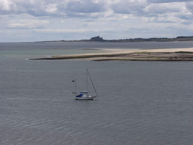 Bamburgh from Lindisfarne