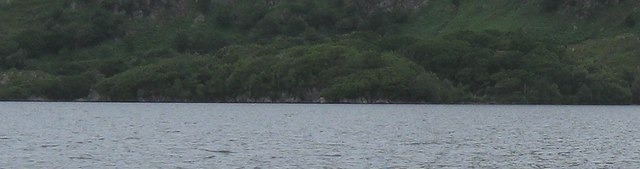 Brinacory Island with North side of Loch Morar beyond, Cropped