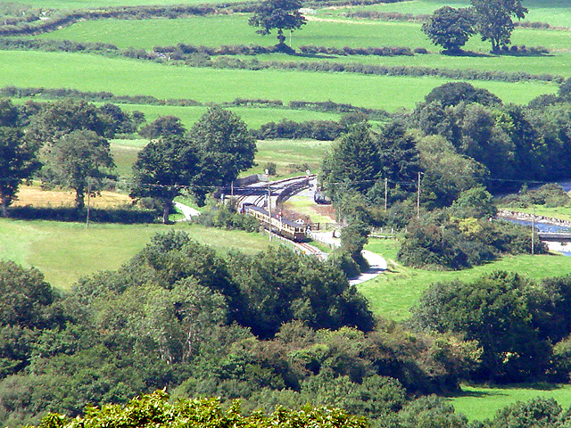 A Vale of Rheidol Railway train enters Capel Bangor station