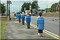 SK5546 : School sentries by Alan Murray-Rust