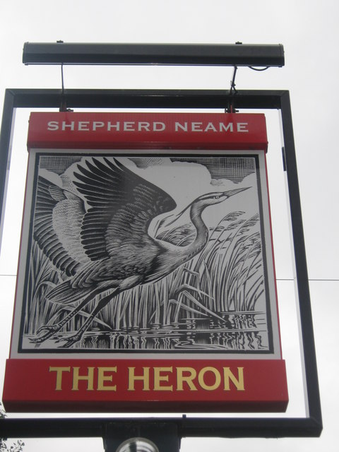 The Heron Pub Sign