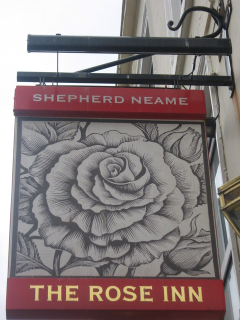 The Rose Inn Pub Sign
