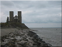 TR2269 : St Mary's Church, Reculver  by David Anstiss