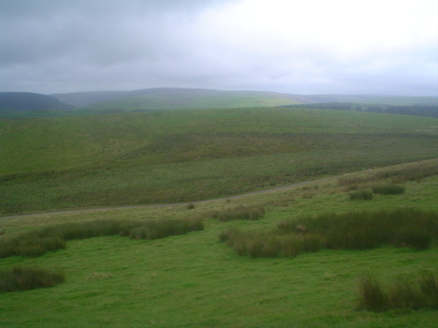 View southeast from the flank of Cerrig Cyffion