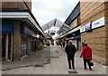 Pedestrianised shopping street between Manchester Road and Droylsden Shopping Centre.