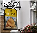 The sign for the Beehive [[2009063]] on Market Street, Droylsden.
