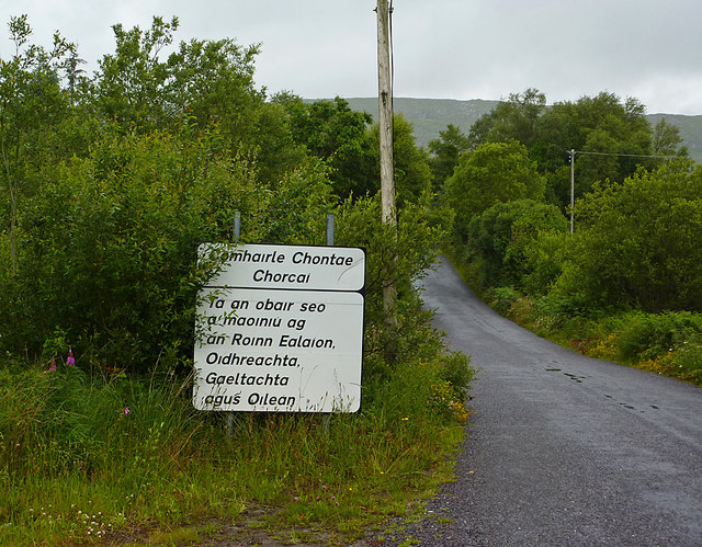 Sign on road to Gougane Barra