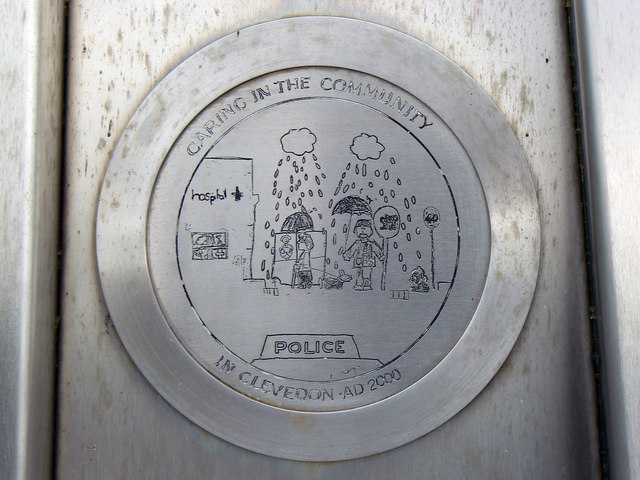 Plaque, Millennium Celebration Monument, Clevedon