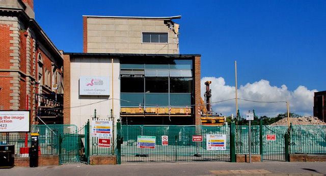 Demolition of Lisburn Tech (2)