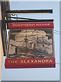 TQ7567 : The Alexandra Pub Sign by David Anstiss