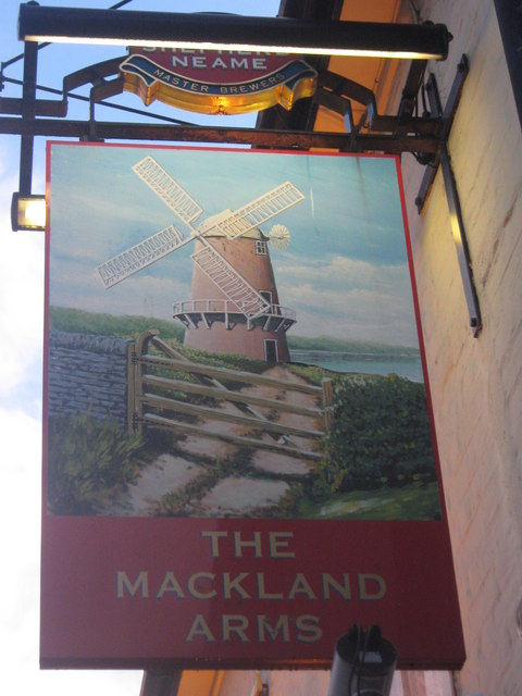The Mackland Arms Pub Sign
